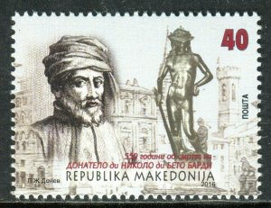 209 - MACEDONIA - Donato di Niccolo di Betto Bardi - Renaissance Sculptor - MNH