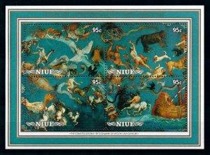 [102264] Niue 1986 Space travel weltraum Halley comet Souvenir Sheet MNH
