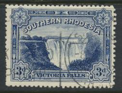 Southern Rhodesia  SG 35b  SC# 37A   Used   perf 14  Victoria Falls see details