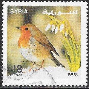 Syria 1351b Used - Songbirds - European Robin (Erithacus rubecula)