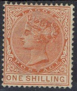 LAGOS 1884 QV 1/- WMK CROWN CA
