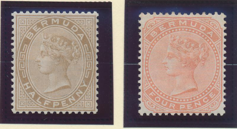 Bermuda Stamp Set Scott #16-7, Mint Hinged