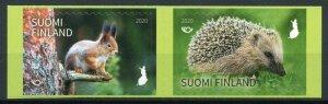 Finland Wild Animals Stamps 2020 MNH Norden Squirrels Hedgehogs Mammals 2v Set