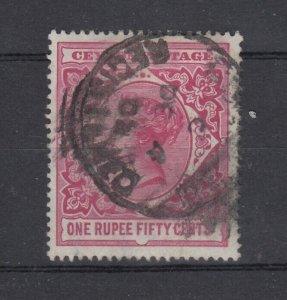 Ceylon QV 1899 1R 50c SG263 Fine Used J7595
