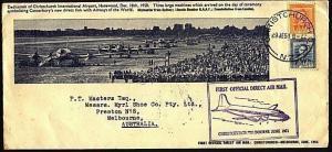 NEW ZEALAND 1951 Christchurch - Melbourne first flight cover.............93035