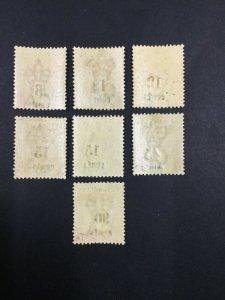 MOMEN: SEYCHELLES SG #15-21 1893 MINT OG H/1NH(#19) £160+ LOT #61846