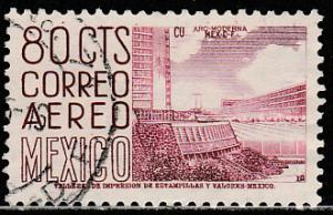 MEXICO C220F, 80cts 1950 Definitive 2nd Ptg wmk 300 PERF 11 USED. F-VF (1230)