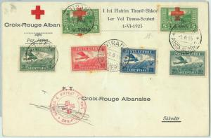 67674 - ROMANIA  - Postal History -  FLIGHT COVER  Muller # 5 - RED CROSS  1925