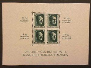 Germany 1937 #B104 Mi Block 10 Souvenir Sheet Mint NH Original GUM