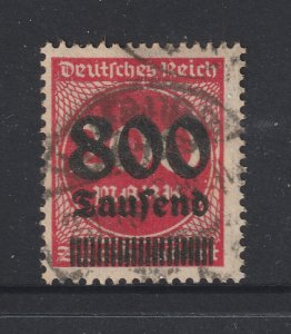 Germany a used 800T on 200M from the 1923 surcharged series