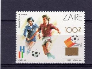 Zaire 1990 FOOTBALL WORLD CUP SPAIN 1982 1 value Perforated Mint (NH)