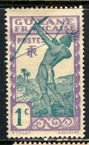 French Guiana 1929: Sc. # 109; */MH Single Stamp