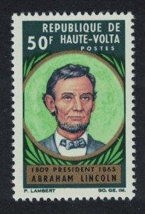 Upper Volta Death Centenary of Abraham Lincoln 1v 1965 MNH SG#170
