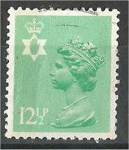 GREAT BRITAIN, N IRELAND, Machins, 1983, used 121/2p lt emer, Scott NIMH19