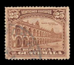 GUATEMALA STAMP 1922 SCOTT # 203. USED.