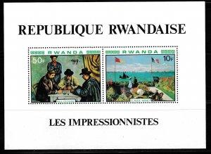 Rwanda,  SW 1071-1072,  MNH,  1980,  Cezanne/Monet,  LL01594