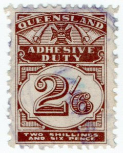 (I.B) Australia - Queensland Revenue : Adhesive Duty 2/6d