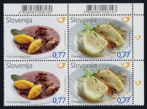 Slovenia 1098 TR Block MNH Traditional Food