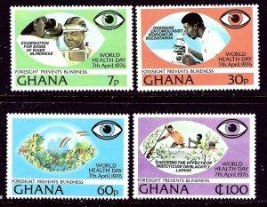 Ghana 592-95 MNH 1976 World Health Day