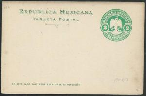 MEXICO Early 2c postcard unused - with advertising.........................66202