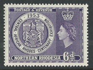 Northern Rhodesia # 59  Rhodes Centenary   (1)  Mint NH