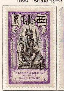 French Guinea 1922 Early Issue Fine Mint Hinged Surcharged 0,01 105883