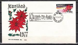 Mexico, Scott cat. 1159. Christmas 1977, Flower on a First day cover. ^
