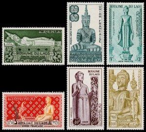 Laos Scott C7-C12 (1953) Mint LH VF Complete Set W