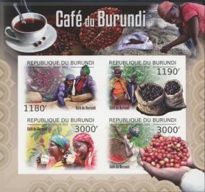 Burundi MNH S/S Cafe Coffee Grains 2012