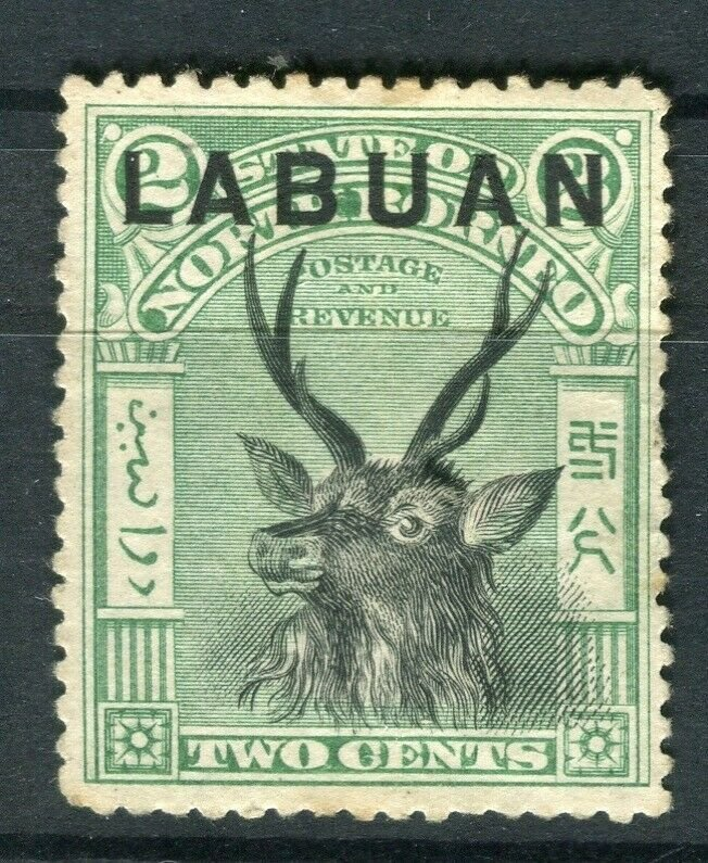 NORTH BORNEO LABUAN; 1890s classic Pictorial issue fine used 2c. value