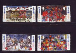 Guernsey Sc 560-3 1995 Christmas stamps used