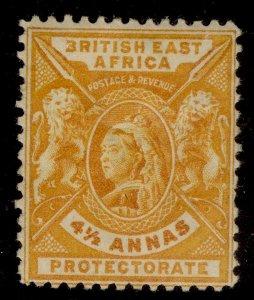 BRITISH EAST AFRICA QV SG71, 4½a orange-yellow, M MINT. Cat £19.
