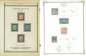 Paraguay 1884-1940 M & U Hinged & in Mounts on a Mix of Remaindered Pages