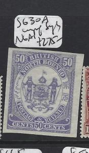 NORTH BORNEO  (P2507B)  50C  ARMS LION  SG 30A  IMPERF SINGLE    NGAI
