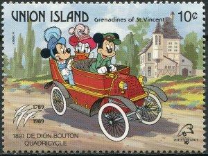 St. Vincent and the Grenadines 1989. De Dion Bouton Quadricycle (MNH OG) Stamp