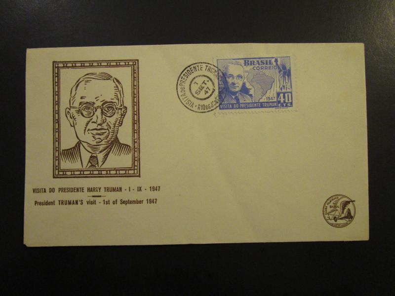 Brazil 1947 Truman Series Cacheted / Unaddressed FDC - Z6035