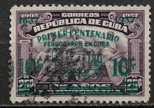 1937 Cuba 355 Centenary of Cuban Railroads used