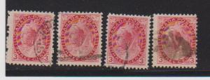 CANADA QUEEN VICTORIA -NUMERAL ISSUE #78 STAMPS USED # LOT#305