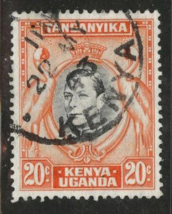 Kenya Uganda and Tanganyika KUT Scott 74 Used perf 13x13.5