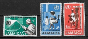 Jamaica MNH 276-8 Health WHO 1968