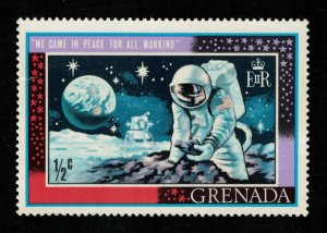 Space 1969 First Man on the Moon Grenada 1/2c (TS-557)