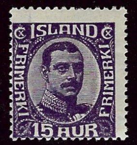 Iceland SC#117 Mint Avg/Fine SCV$47.50...Worth a Close Look!
