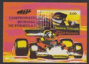 Brazil 1247 Fittipaldi, Car Racing SS mnh