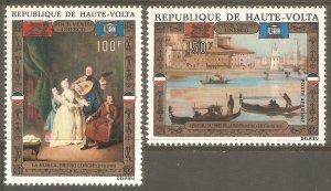 BURKINA FASO Sc# C100 - C101 MNH FVF Set2 UNESCO Musicians Paintings Venice