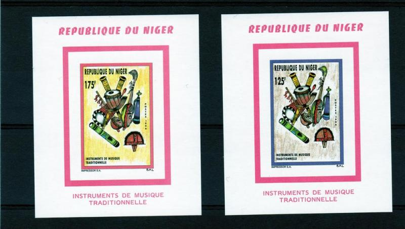 Niger 1996 Musical Instruments 2 S/S MNH Sc#896/897