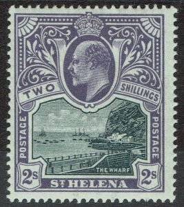 ST HELENA 1903 KEVII THE WHARF 2/-