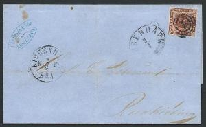 DENMARK 1862 wrapper 4sk imperf full margins ex Copenhagen.................46660