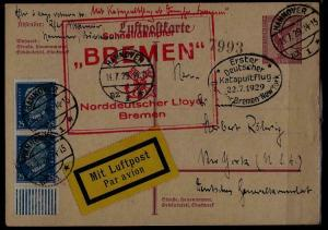 Germany Catapult card 22.7.29 Hannover