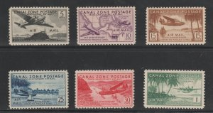 Canal Zone C15-20 VF/XF MNH Airmail