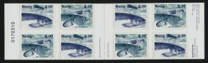 Norway 1216a Booklet Serial # MNH Fish